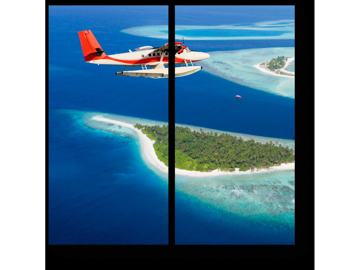 Модульная картина Летающий над Мальдивами (40x40) фото