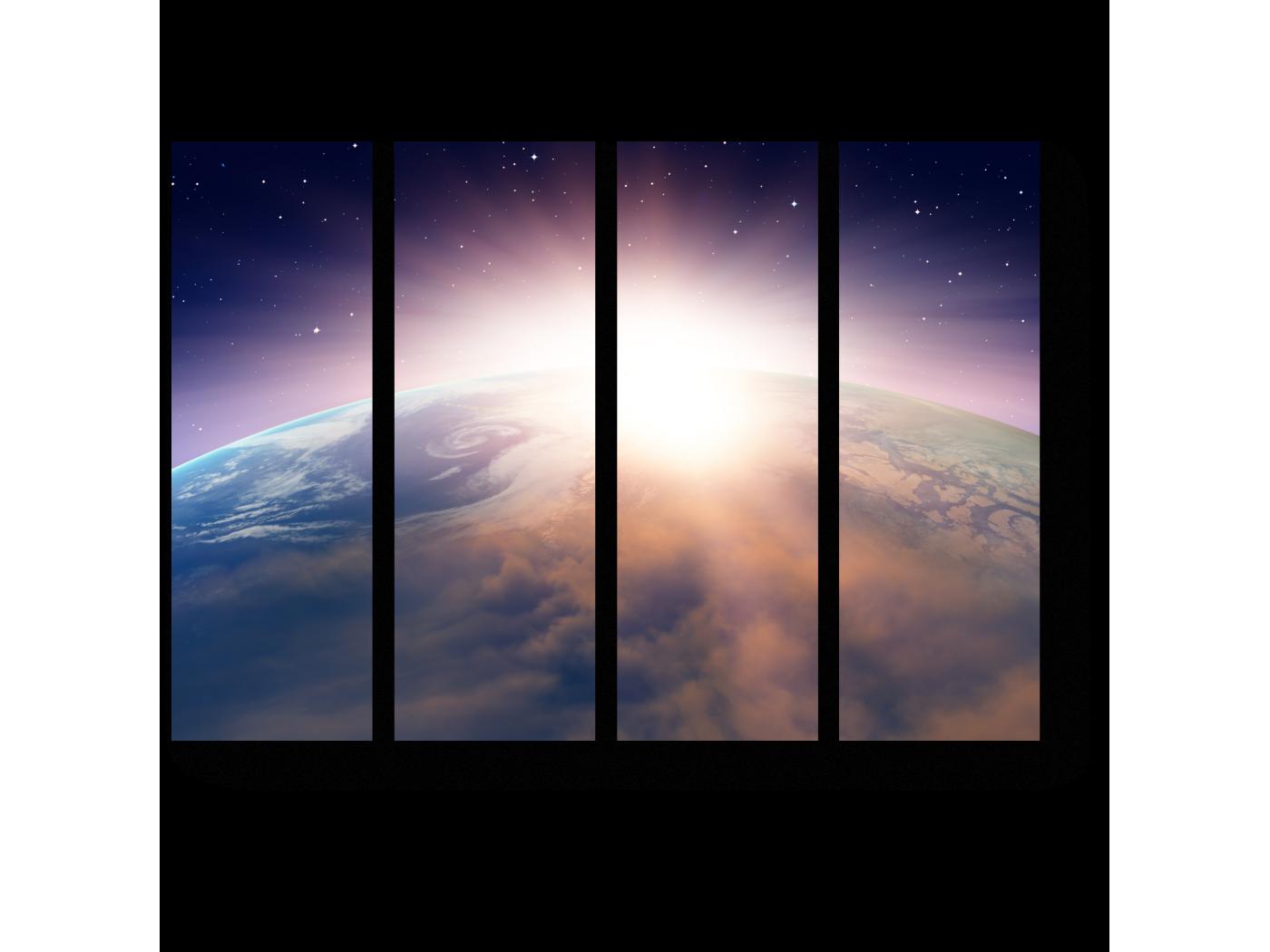 Модульная картина Захватывающий закат над Землей (60x45) фото