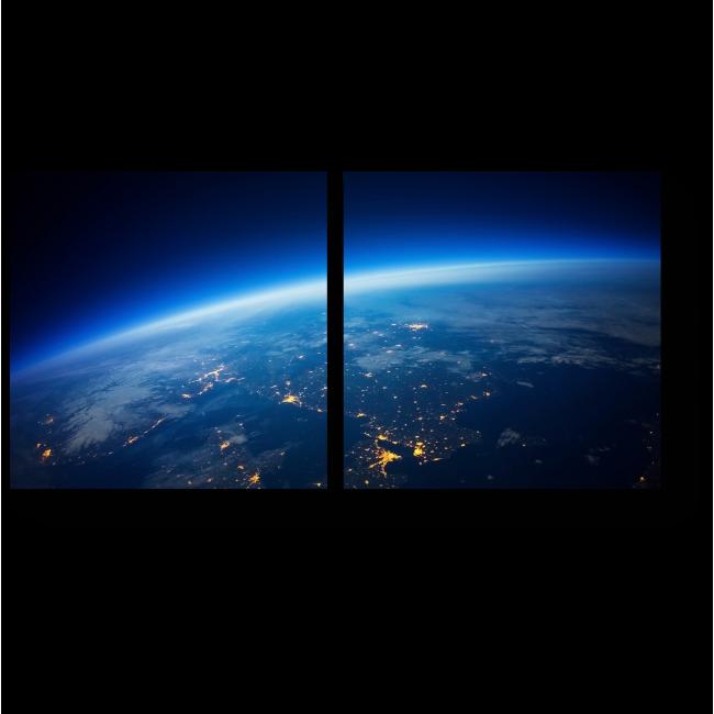 Модульная картина Притяжение Земли