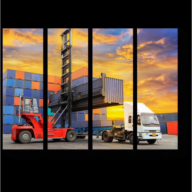Модульная картина Логистика экспорта-импорта