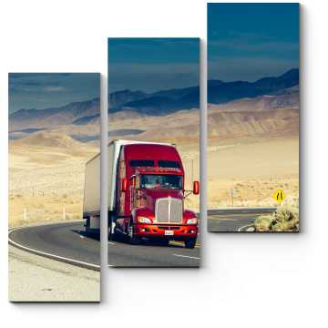 Модульная картина Грузовик на шоссе