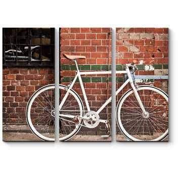 Ретро-стильный велоспорт в городе