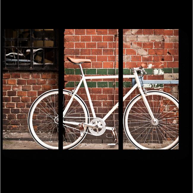 Модульная картина Ретро-стильный велоспорт в городе