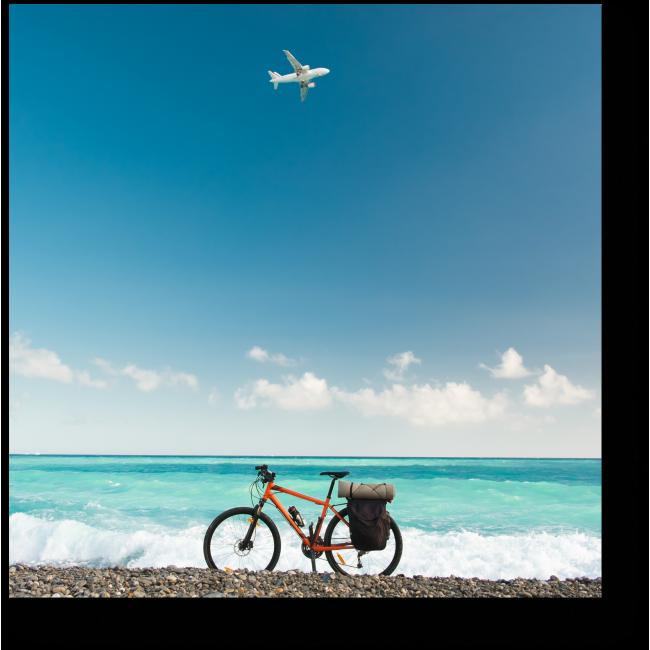 Модульная картина Велосипед у океана