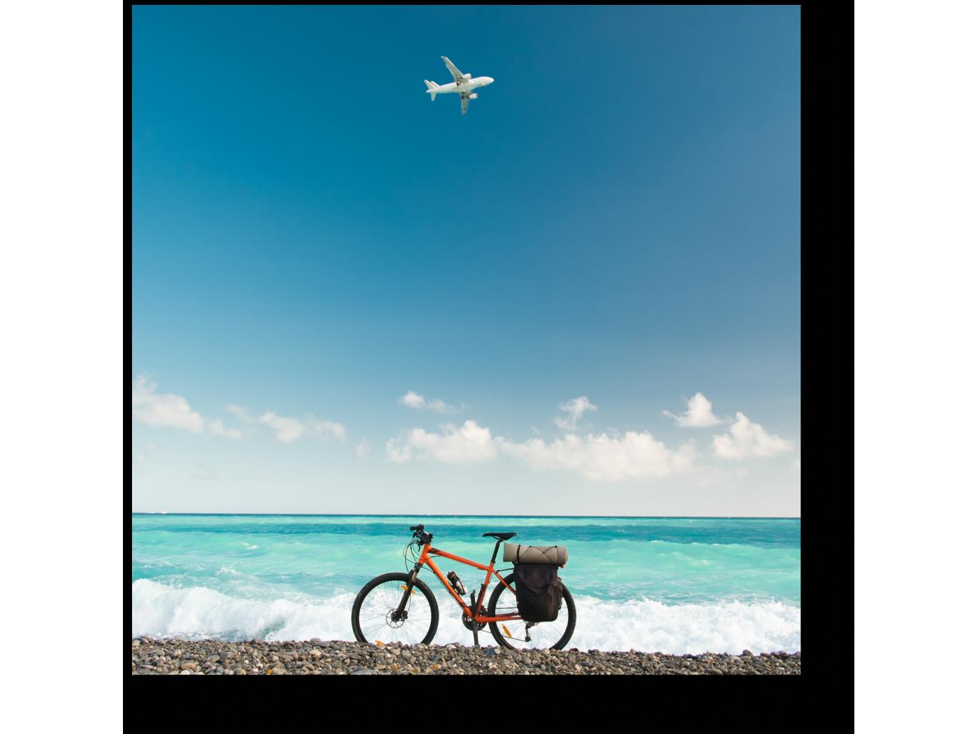 Модульная картина Велосипед у океана (20x20) фото