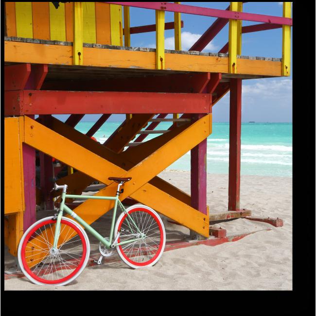 Модульная картина Велосипедная и спасательная станция