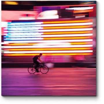Велосипедист в движении