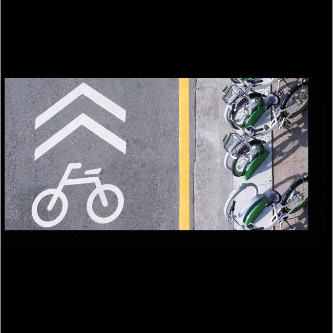 Модульная картина вывеска с парковкой для велосипедов