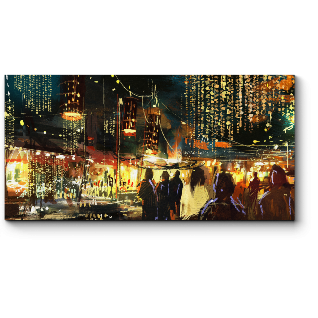 Модульная картина Красочная ночная жизнь