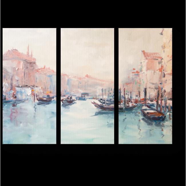 Модульная картина Живопись маслом. Венеция