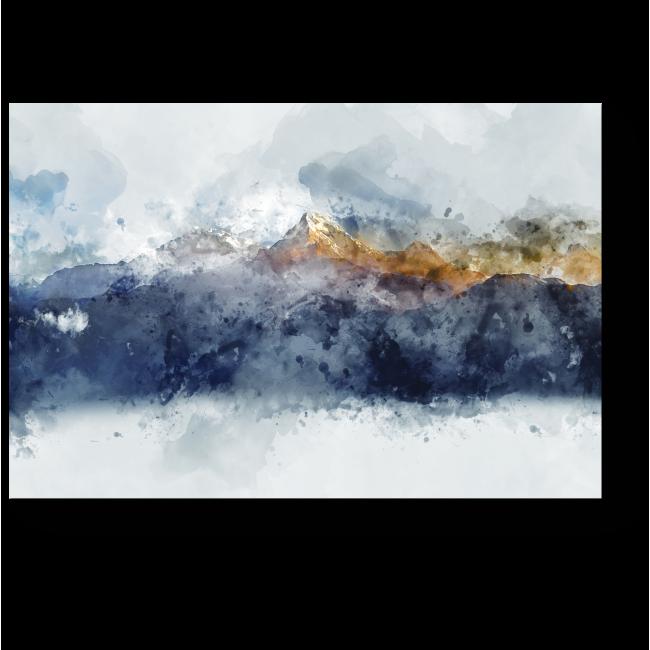 Модульная картина Горные хребты в утреннем свете