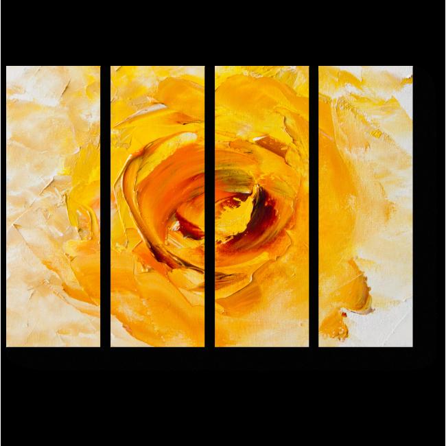 Модульная картина Желтая Фантазия