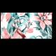 Нежные цветы на водном фоне