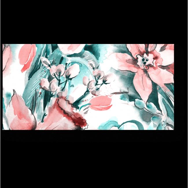 Модульная картина Нежные цветы на водном фоне