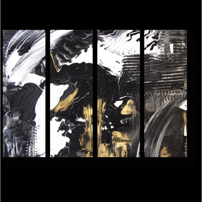 Модульная картина Абстрактная ручная роспись