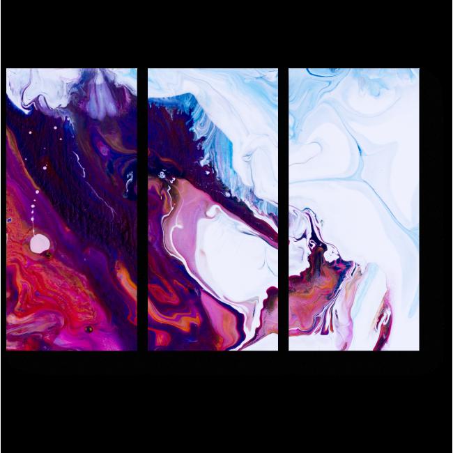 Модульная картина Фрагмент акриловой живописи