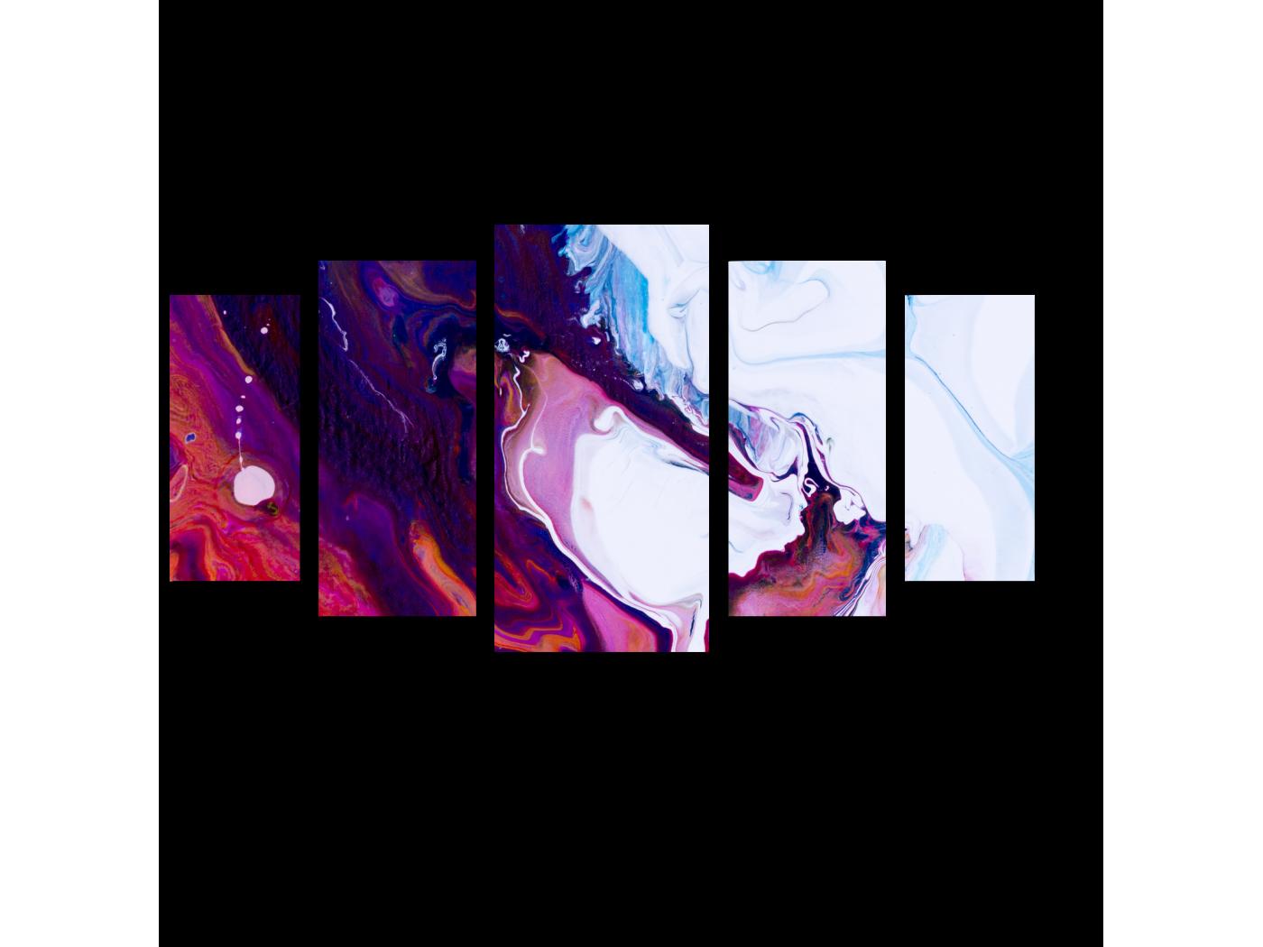 Модульная картина Фрагмент акриловой живописи (100x55) фото
