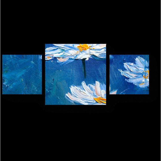 Модульная картина Одинокие цветы