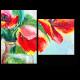 Живопись цветочным узором. Тюльпан
