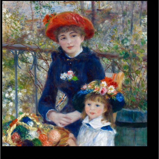 Модульная картина Две сестры (На террасе)