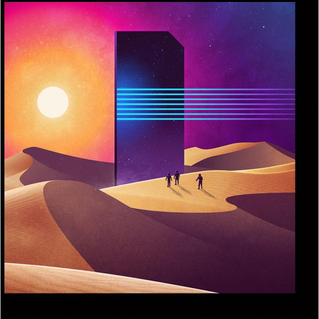 Модульная картина Космические приключения #2