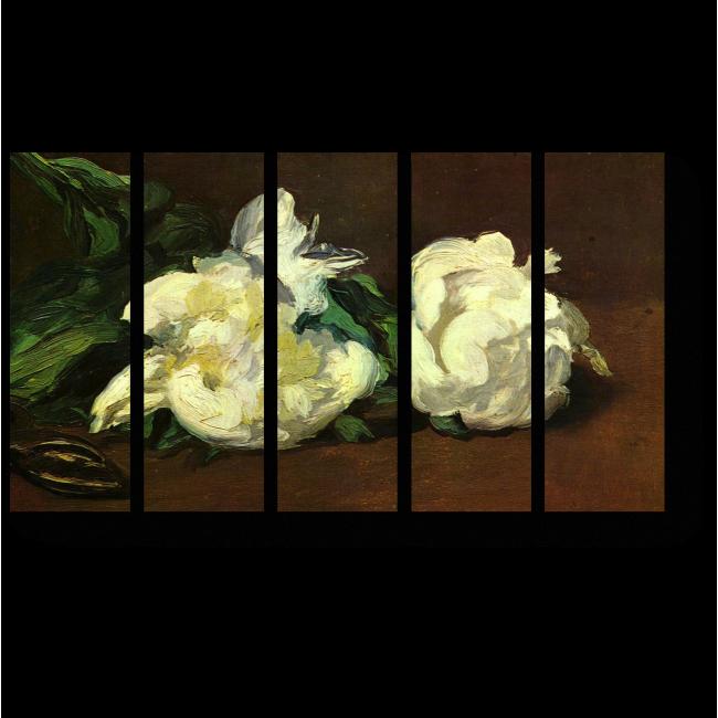 Модульная картина Белые пионы
