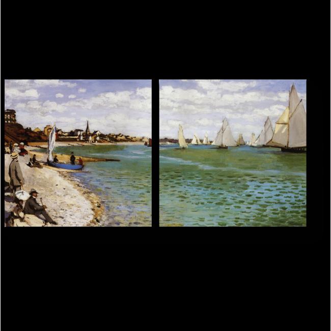 Модульная картина Регата в Сент-Адресс