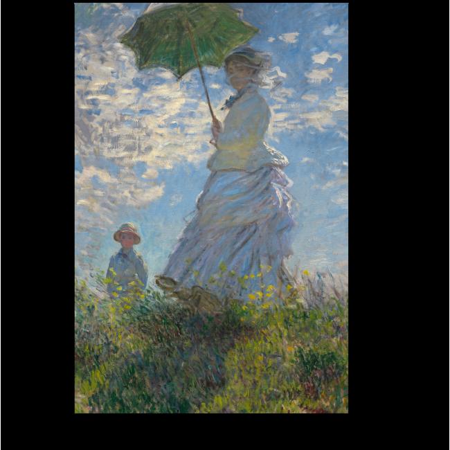 Модульная картина Женщина с зонтиком