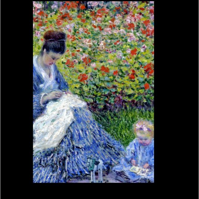 Модульная картина Мадам Моне