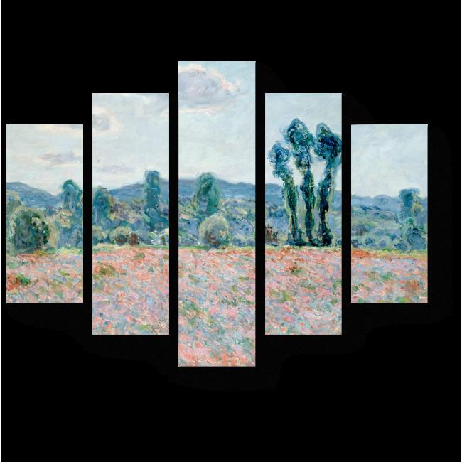 Модульная картина Маковое поле