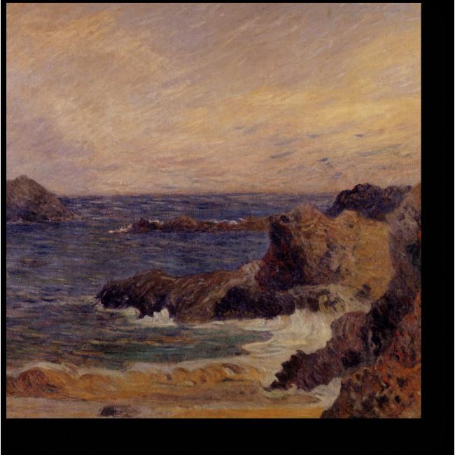 Модульная картина Скалы на побережье