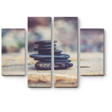 Модульная картина Черные камни