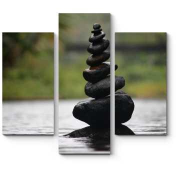 Модульная картина Камни в воде
