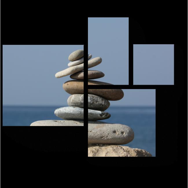 Модульная картина Пирамида из камней