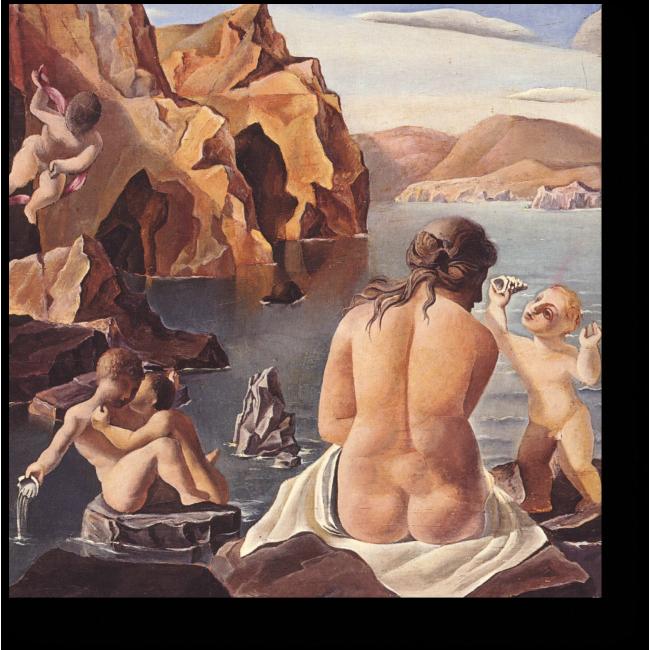 Модульная картина Венера и Кипидоны