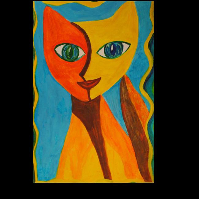 Модульная картина Кошка Пикассо