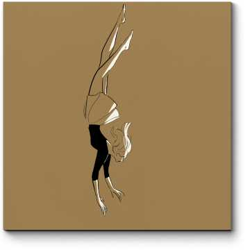 Модульная картина Девушка в воздухе