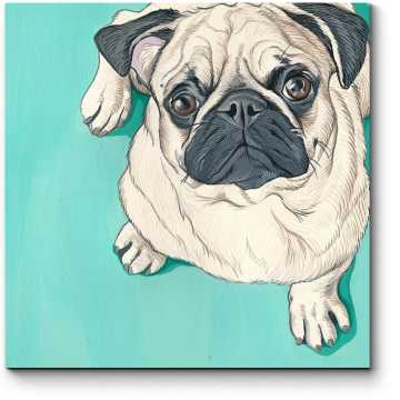 Модульная картина Доверчивый пес