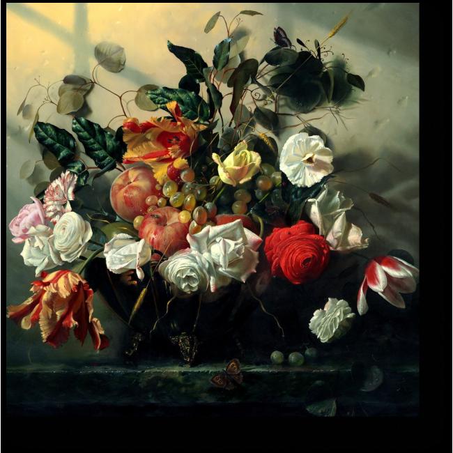 Модульная картина Розы и бабочка