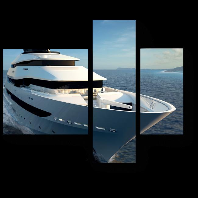 Модульная картина Яхта на морских просторах