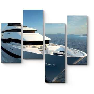Яхта на морских просторах