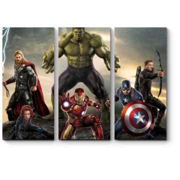 Модульная картина Элитная команда супергероев