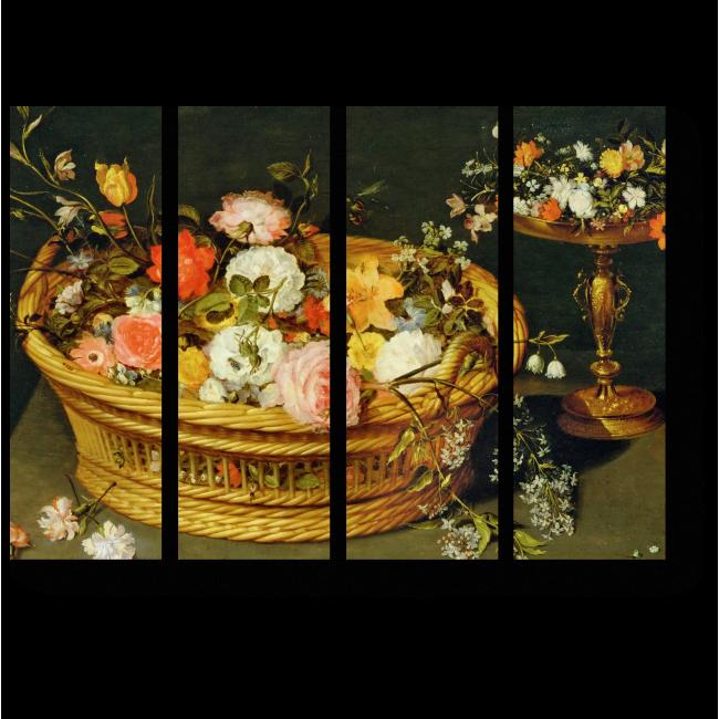 Модульная картина Корзинка с розами