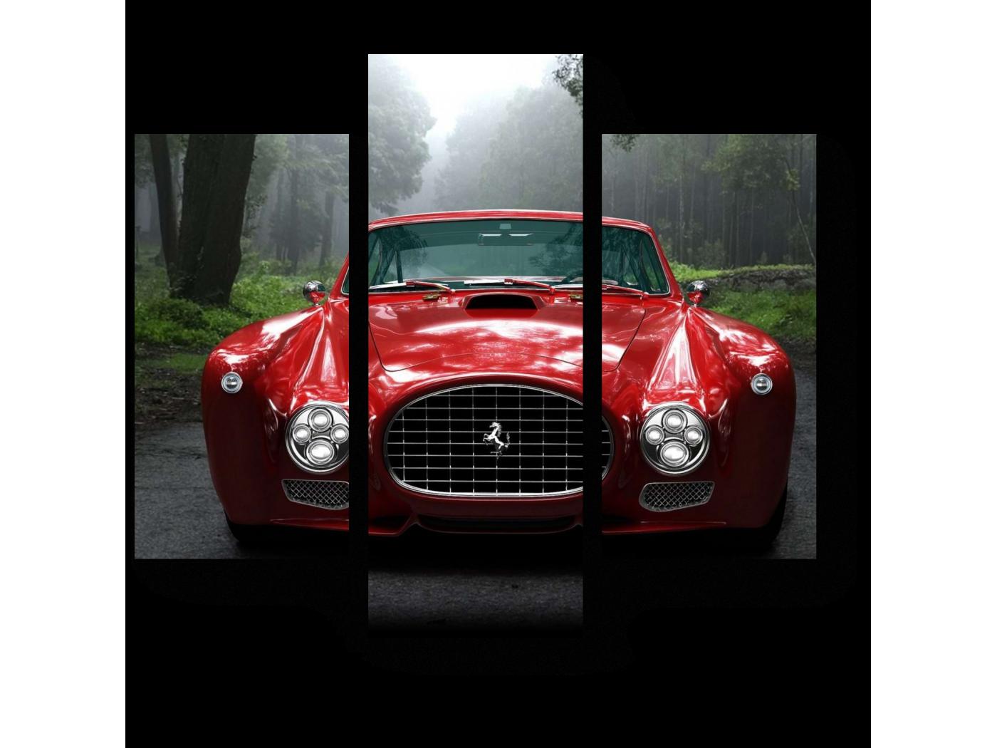 Модульная картина Ferrari (60x54) фото