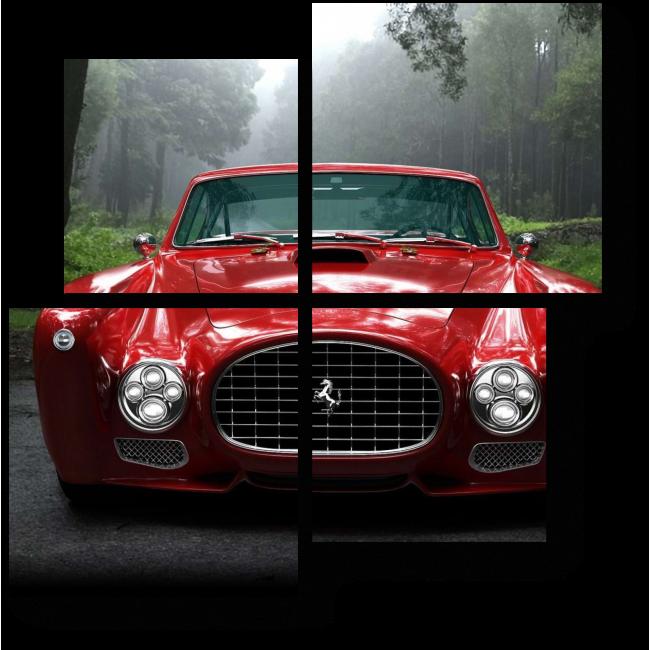 Модульная картина Ferrari