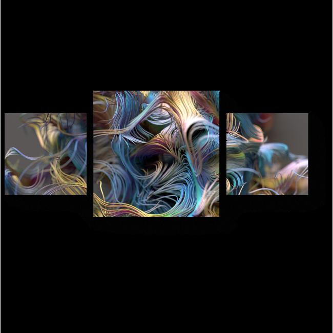 Модульная картина Радужные узоры