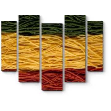 Модульная картина Спагетти цветные