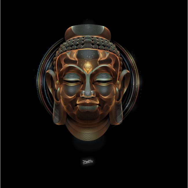 Модульная картина Лицо Будды