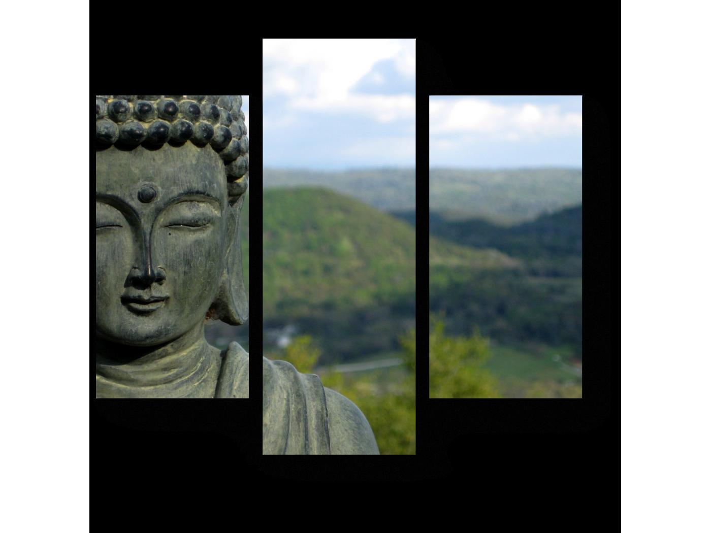 Модульная картина Статуя Будды (60x54) фото