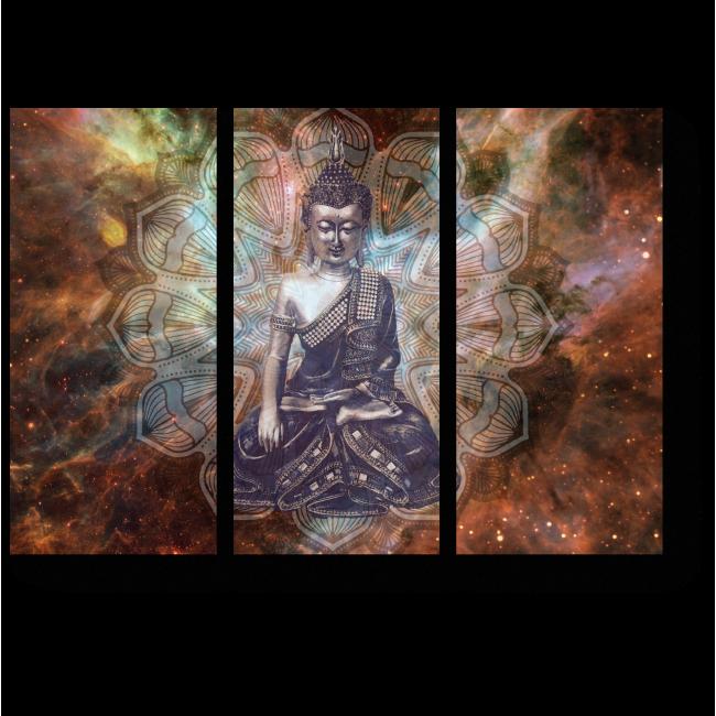 Модульная картина Будда космос